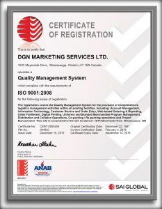 ISO 9001 Certificate of Registration